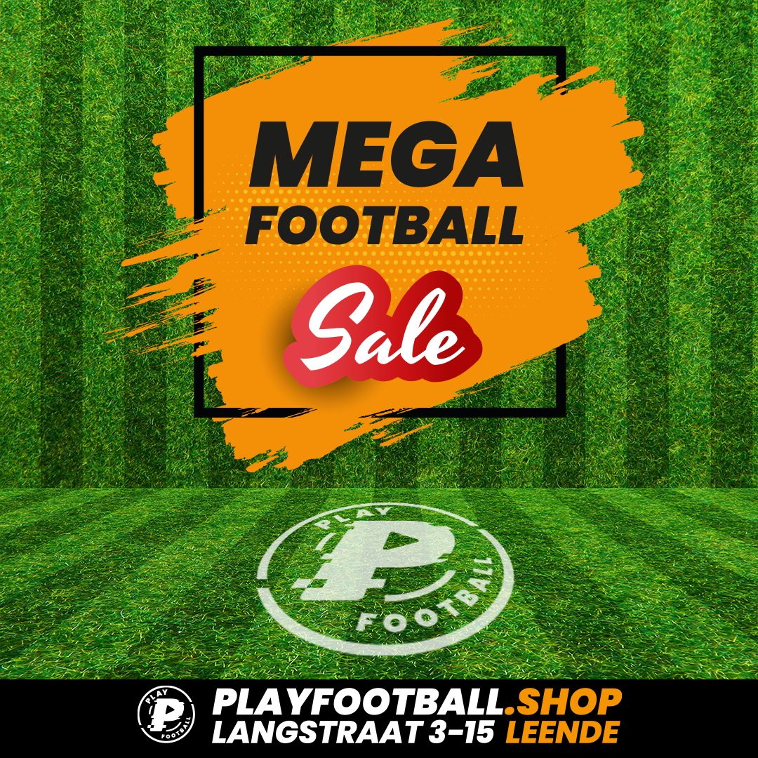MEGA FOOTBALL SALE BIJ PLAY FOOTBALL IN LEENDE